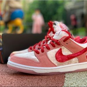 Nike SB Dunk Low x StrangeLove athletic shoes